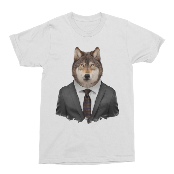 Grey Wolf Men's T-Shirt - Premium Artwear Curartee