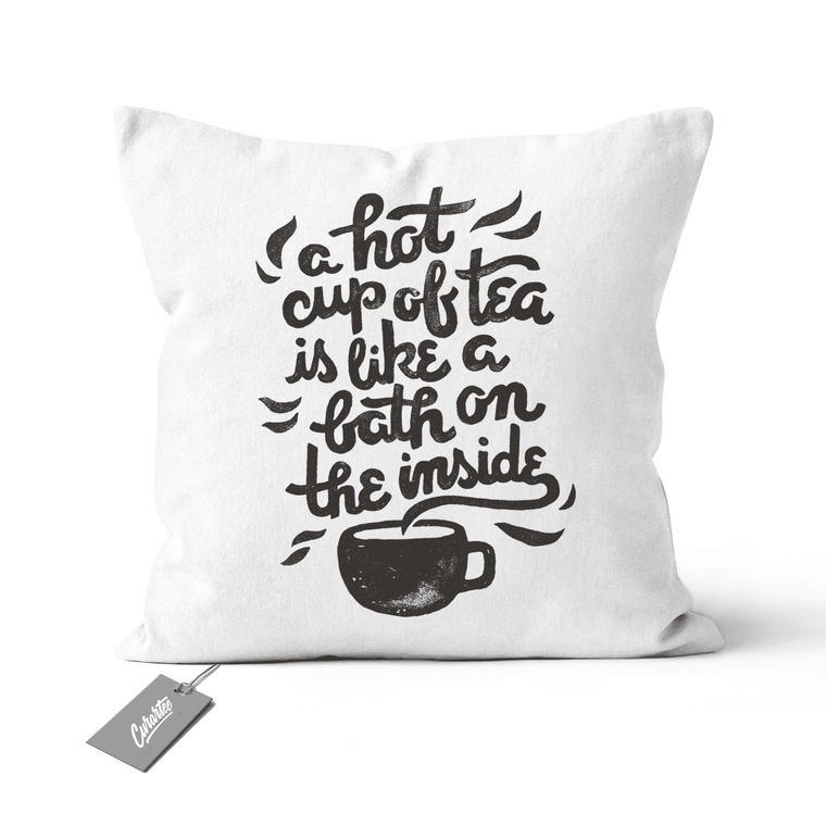 Hot Tea Cushion - Premium Artwear Curartee