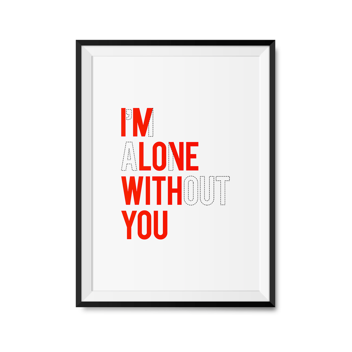 In Love With You Art Print-Curartee