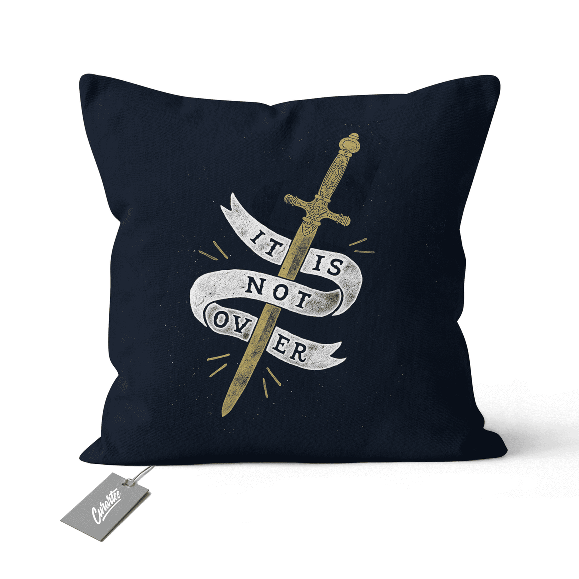 It's Not Over Cushion - Premium Artwear Curartee