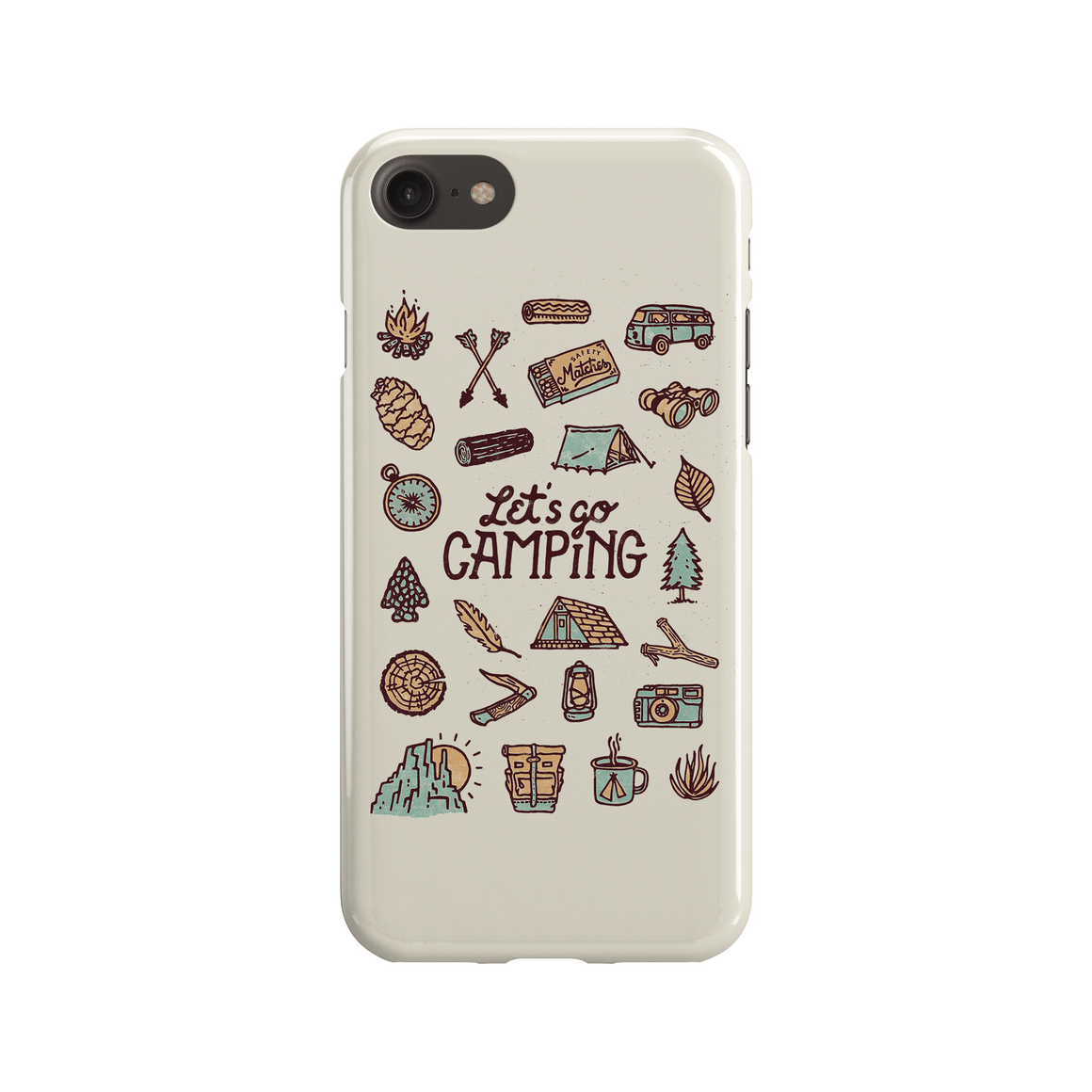 Let's Go Camping Phone Case