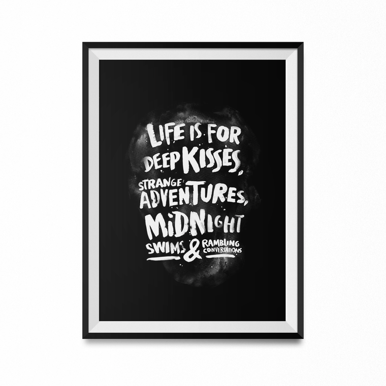 Life is For Art Print-Curartee