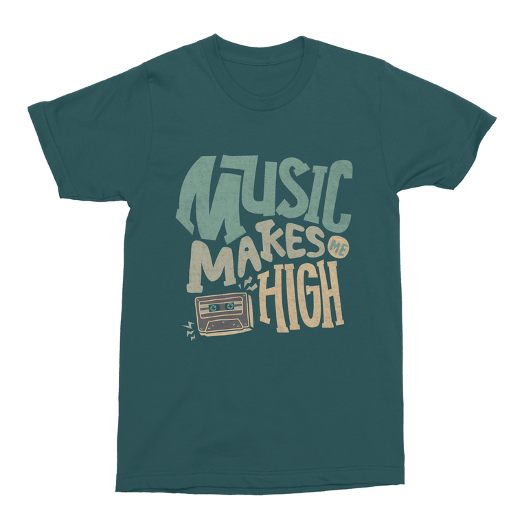 Music Makes Me High Men's T-Shirt-Curartee