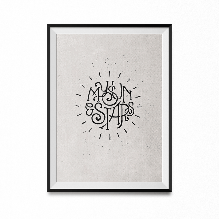 My Sun and Stars Art Print-Curartee