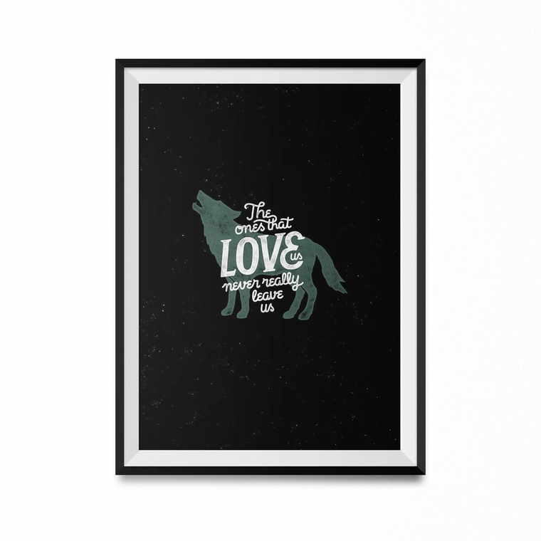 Never Leave Us Art Print-Curartee