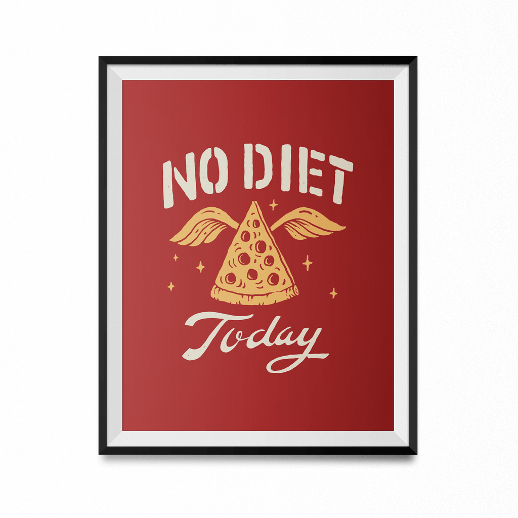 No Diet Today Art Print-Curartee