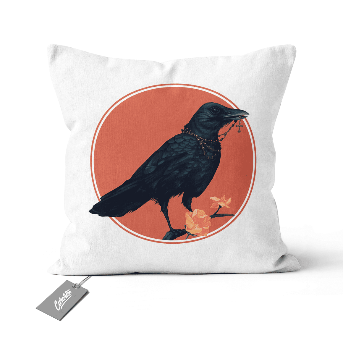 Oily Crow Cushion - Premium Artwear Curartee