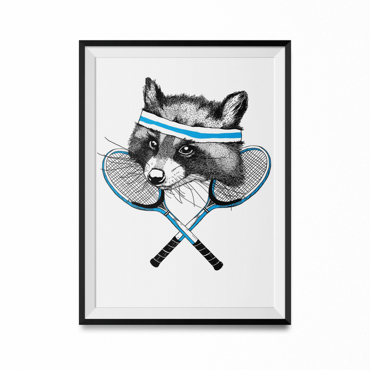 Raccoon Art Print-Curartee