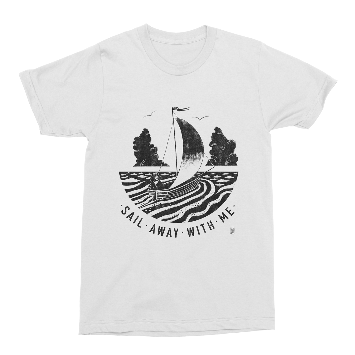 Sail Away With Me Men's T-Shirt-Curartee