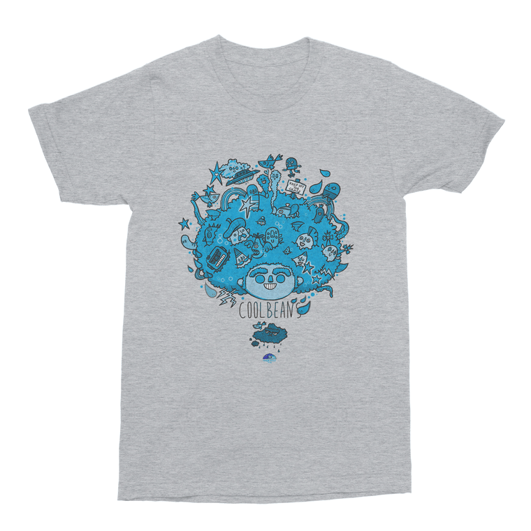 Big Hair Blue Men's T-Shirt-Curartee