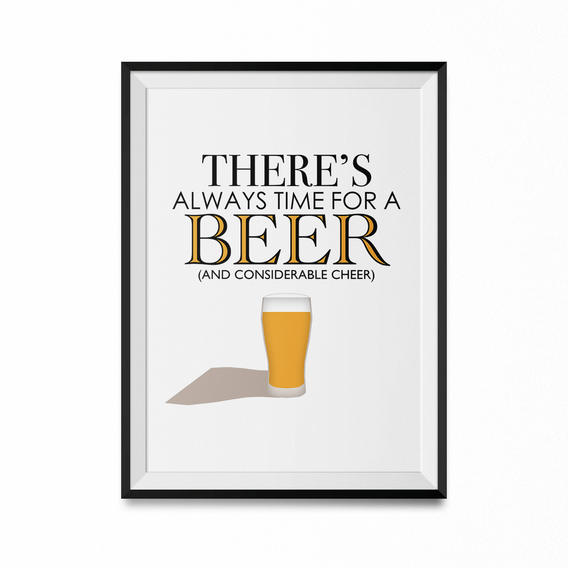Always Time for Beer Art Print-Curartee