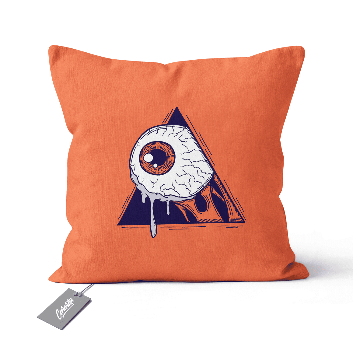 A Clockwork Eye Cushion - Premium Artwear Curartee