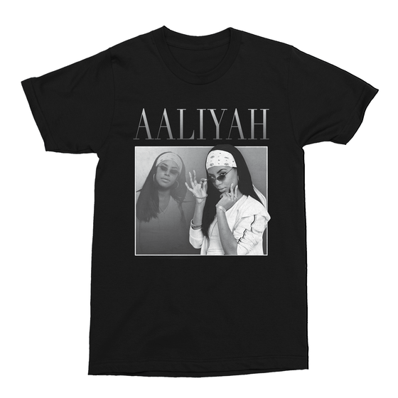 Aaliyah Premium Music Montage Men's T-Shirt
