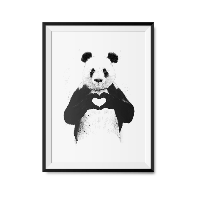 All You Need is Love Art Print-Curartee