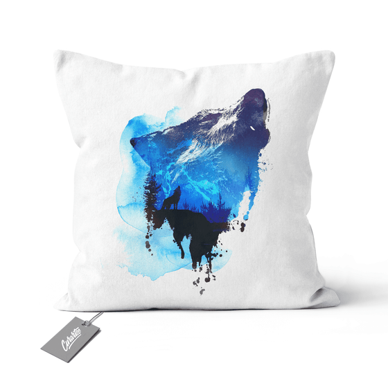 Alone As A Wolf Cushion