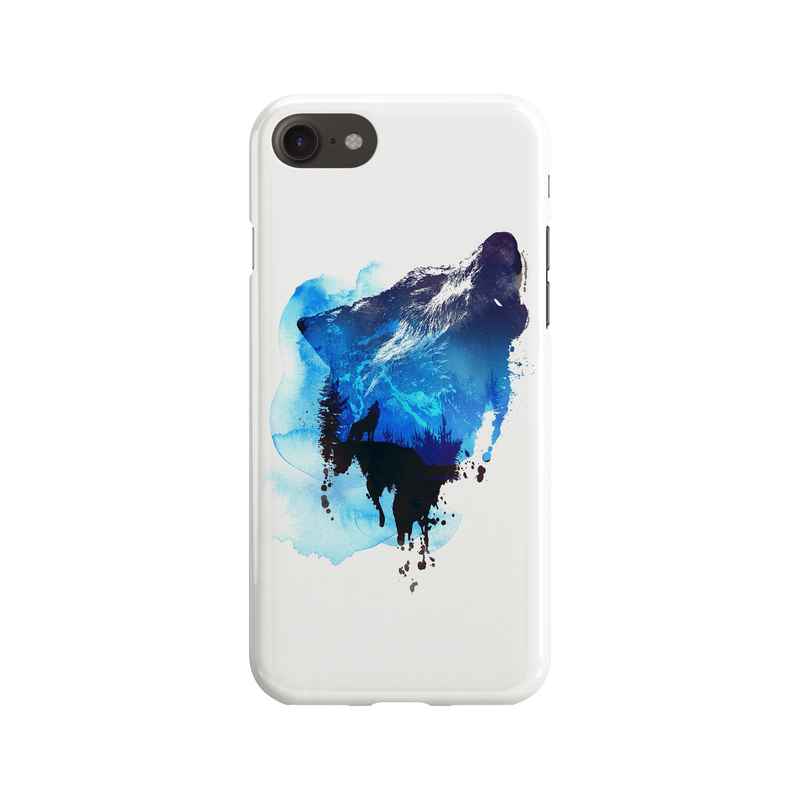 Alone As A Wolf Phone Case