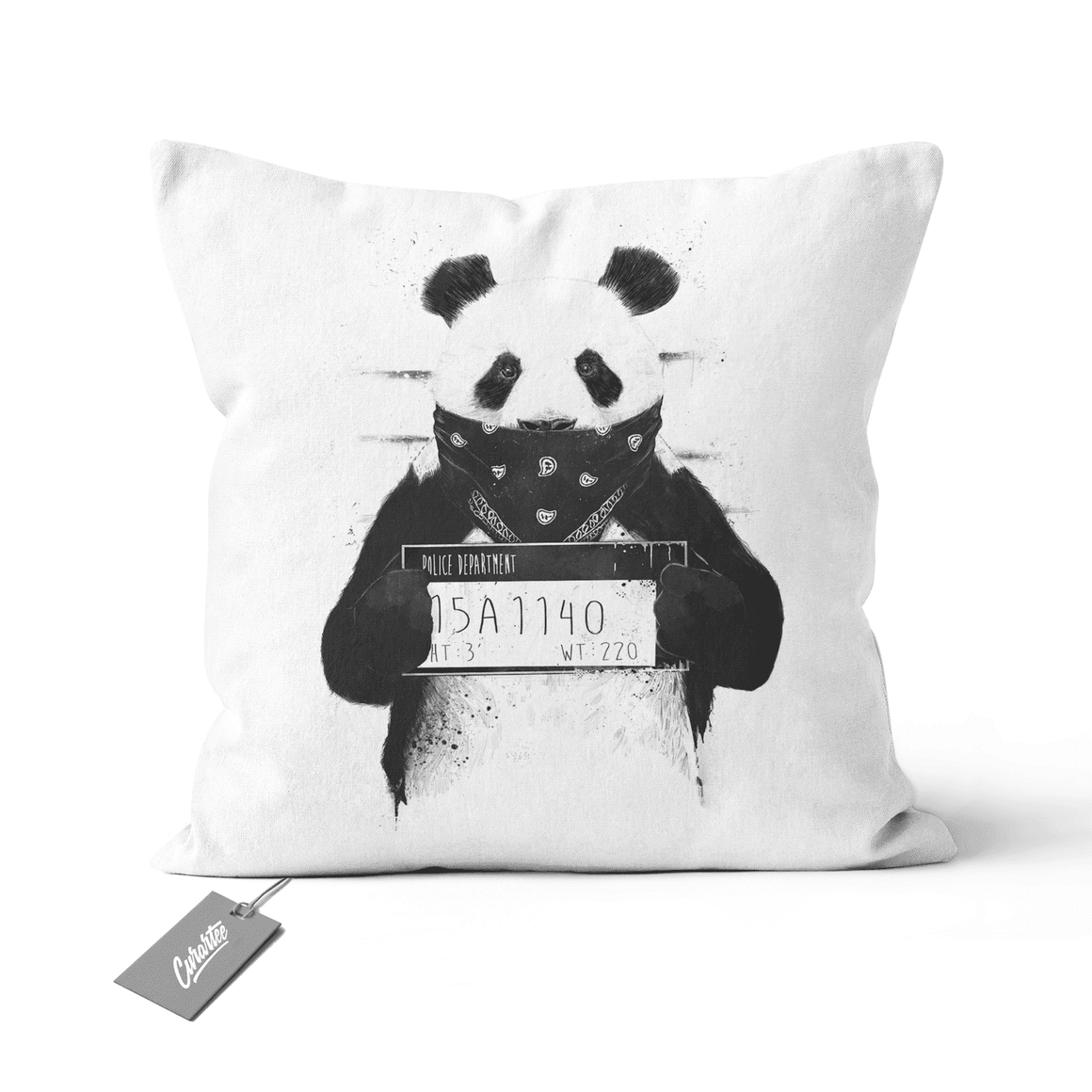 Bad Panda Cushion - Premium Artwear Curartee