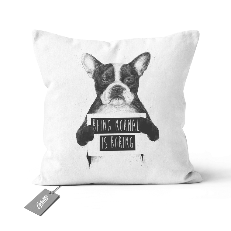 Being Normal is Boring Cushion - Premium Artwear Curartee