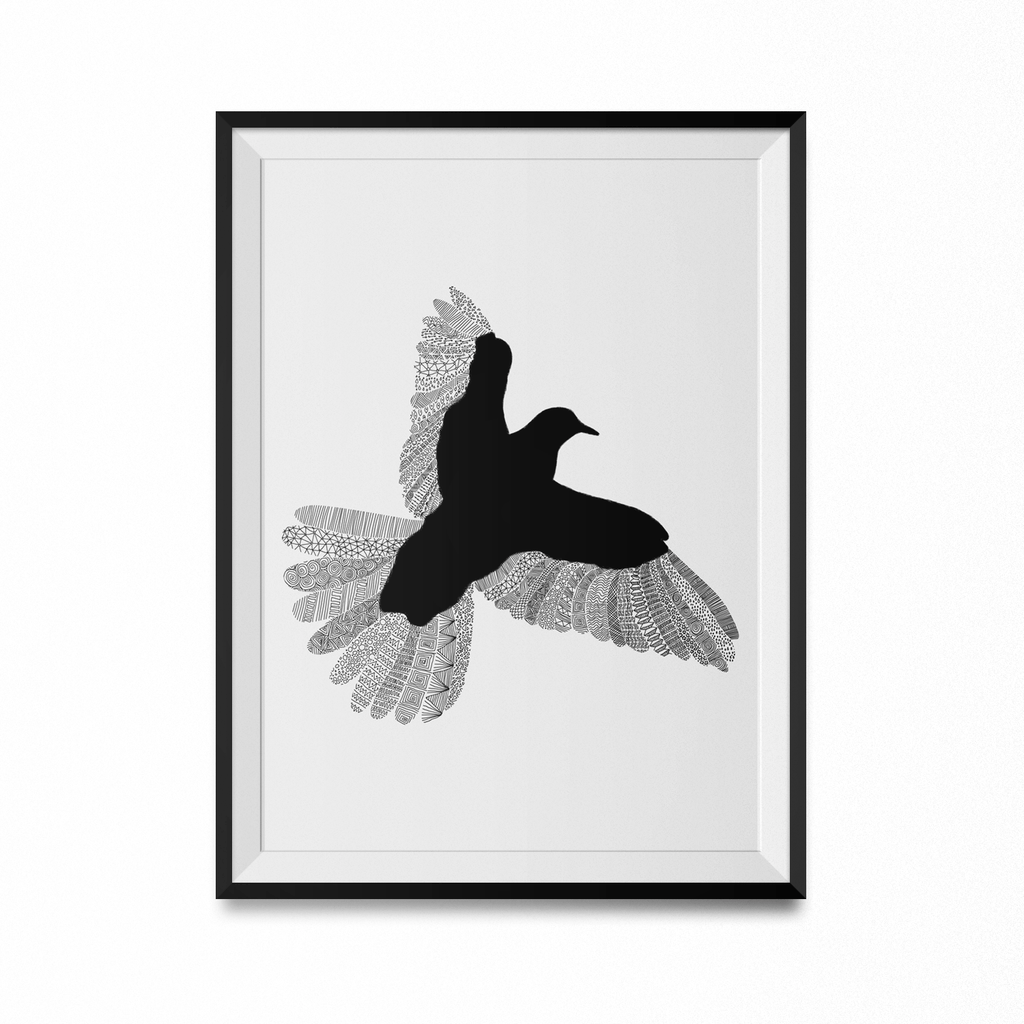 Bird Art Print-Curartee
