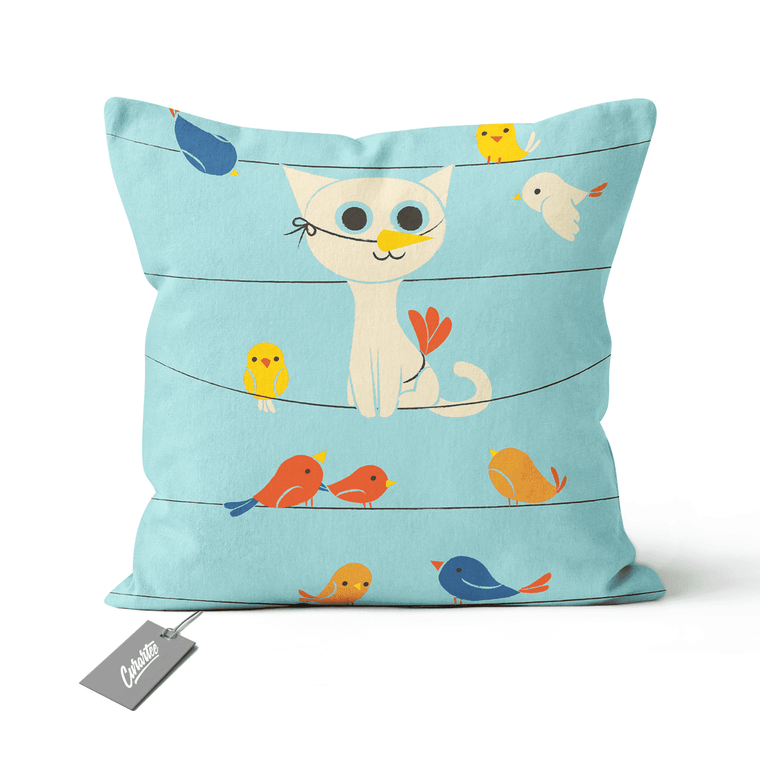 Bird Watching Cushion - Premium Artwear Curartee
