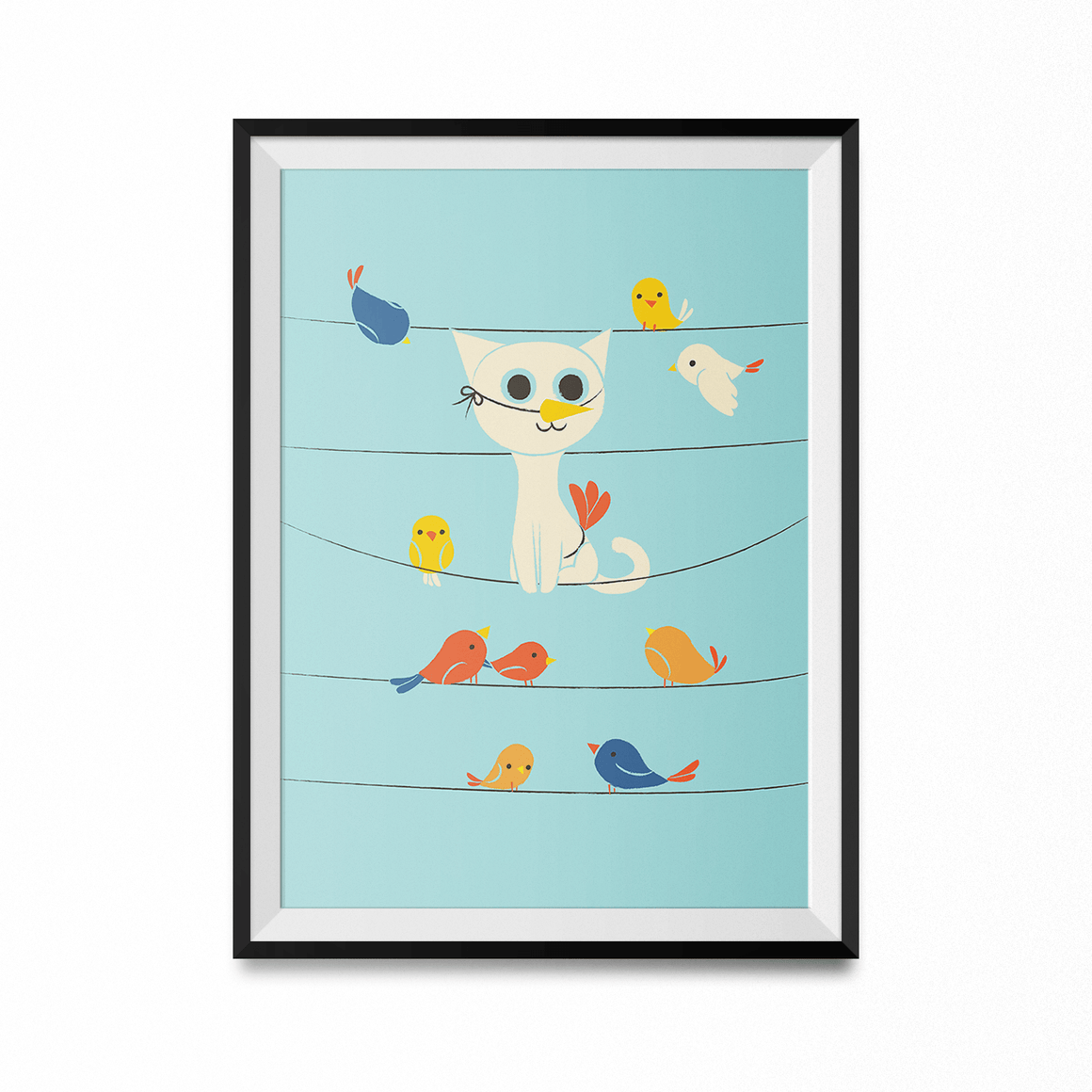 Bird Watching Art Print-Curartee