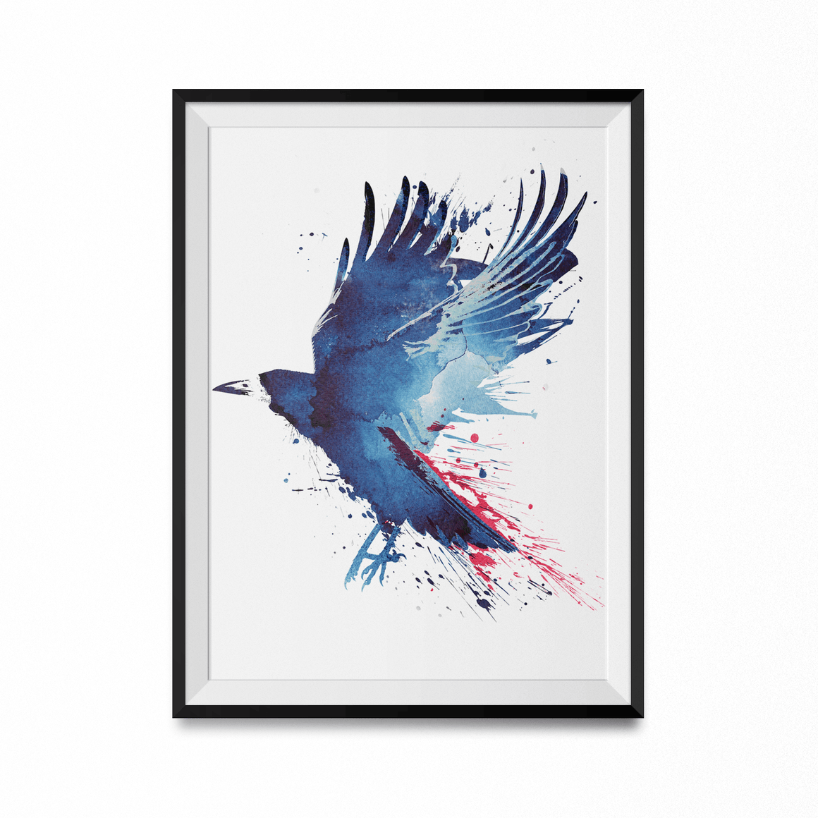 Bloody Crow Art Print-Curartee