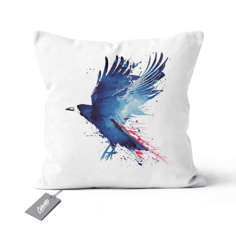 Bloody Crow Cushion - Premium Artwear Curartee