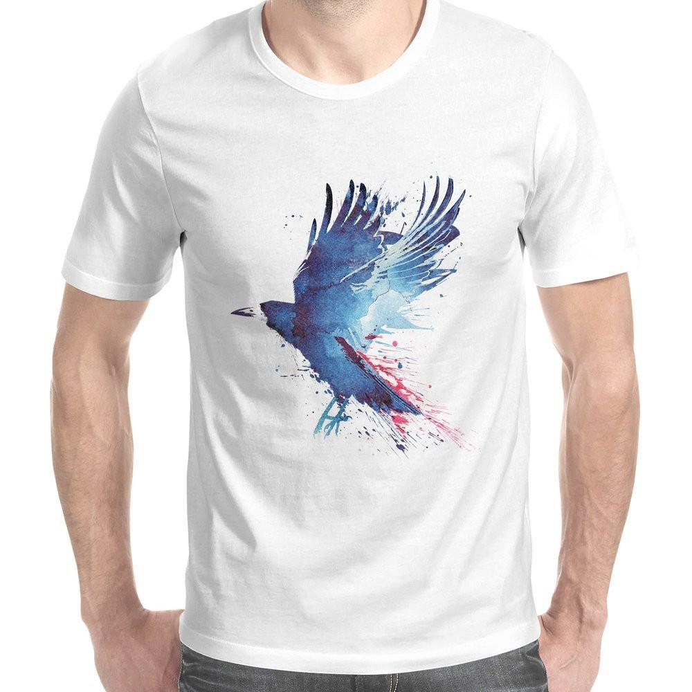 Bloody Crow Men's T-Shirt-Curartee
