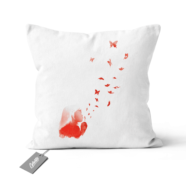 Blowing Butterflies Cushion - Premium Artwear Curartee