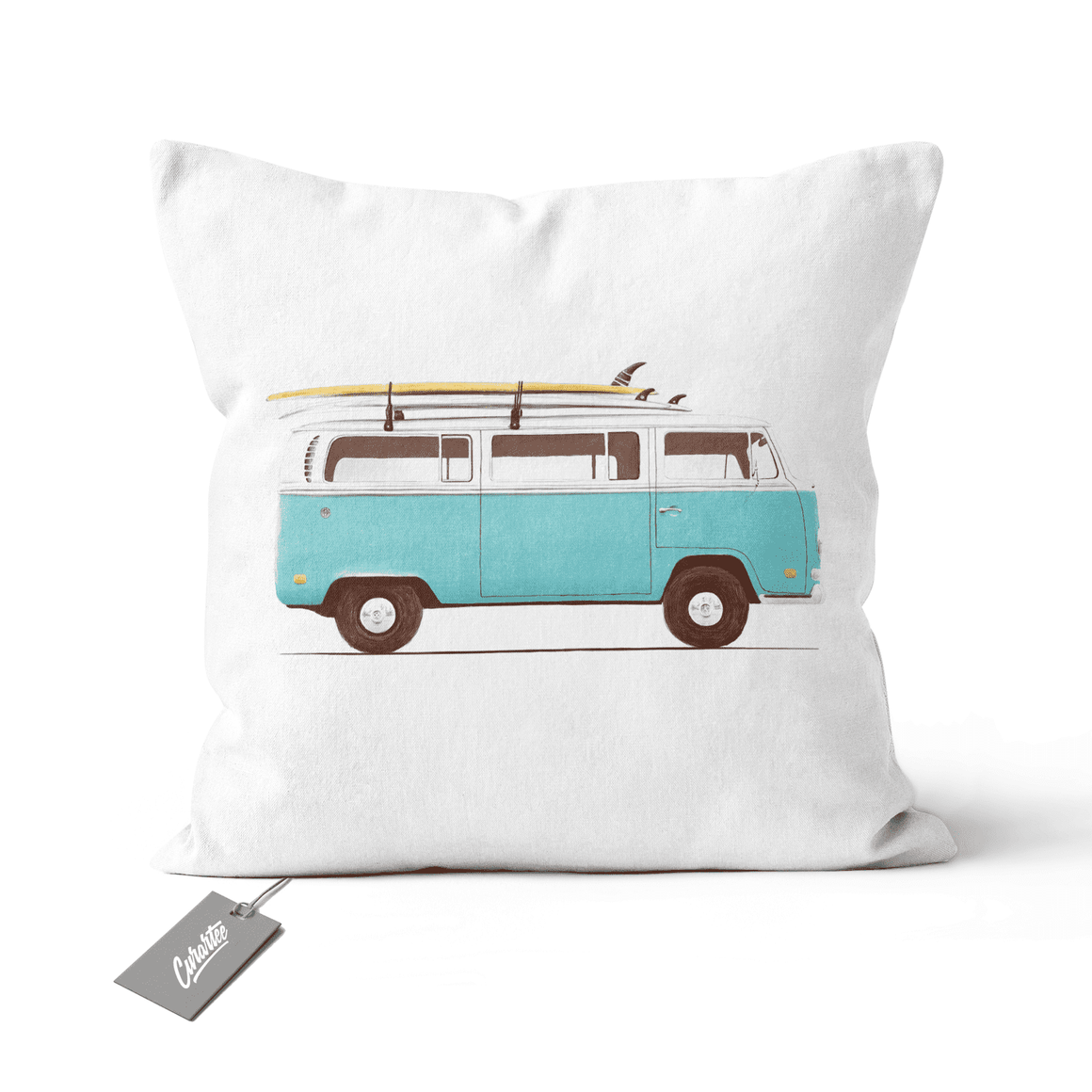 Blue Van Cushion - Premium Artwear Curartee