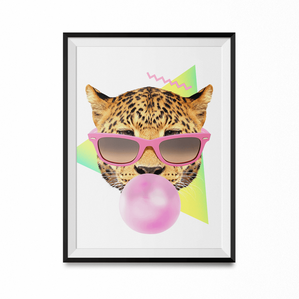 Bubble Gum Leo Art Print-Curartee