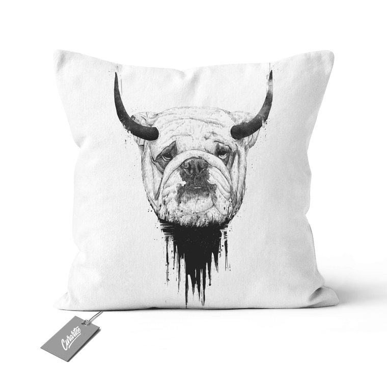 Bulldog Cushion - Premium Artwear Curartee
