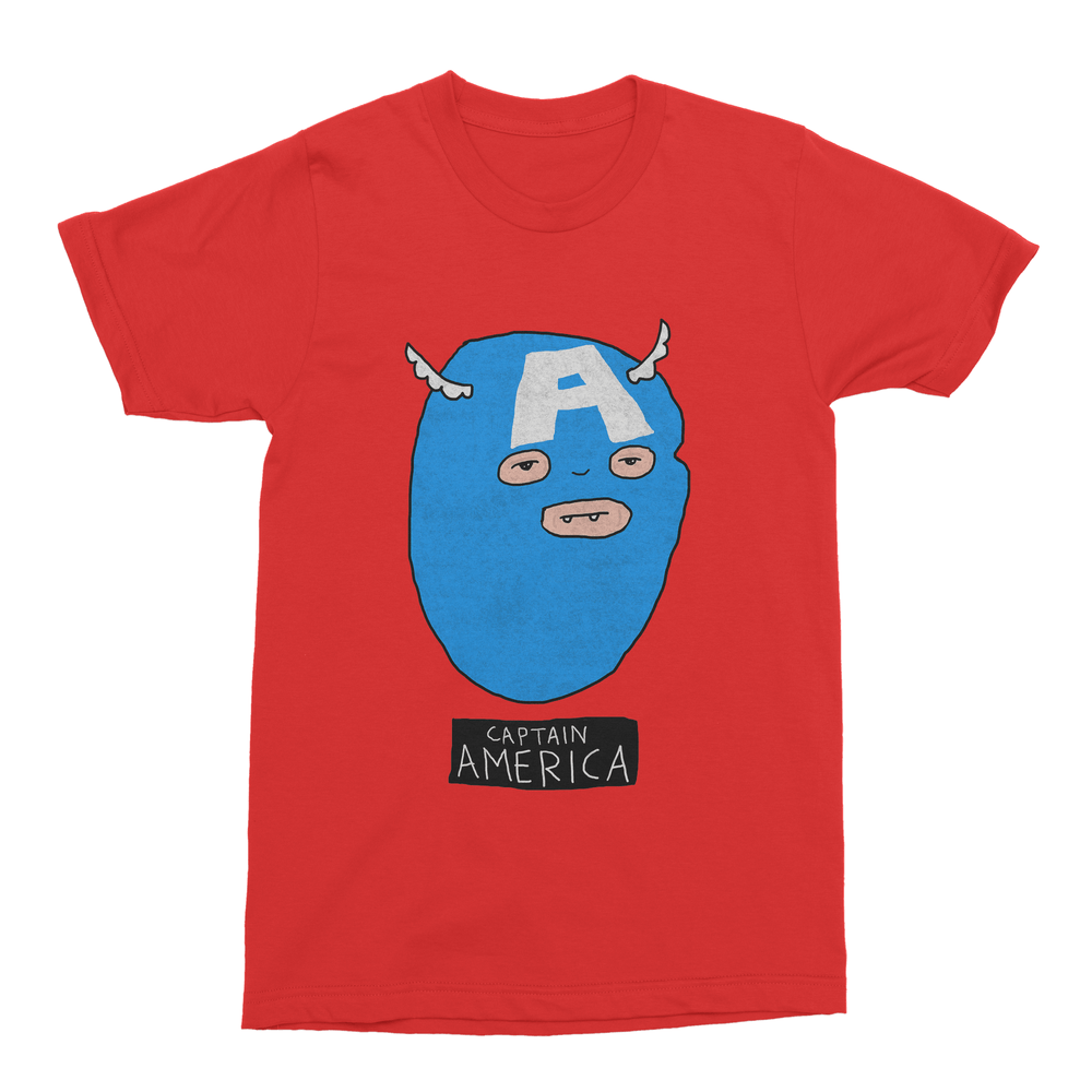 Captain America Men's T-Shirt-Curartee