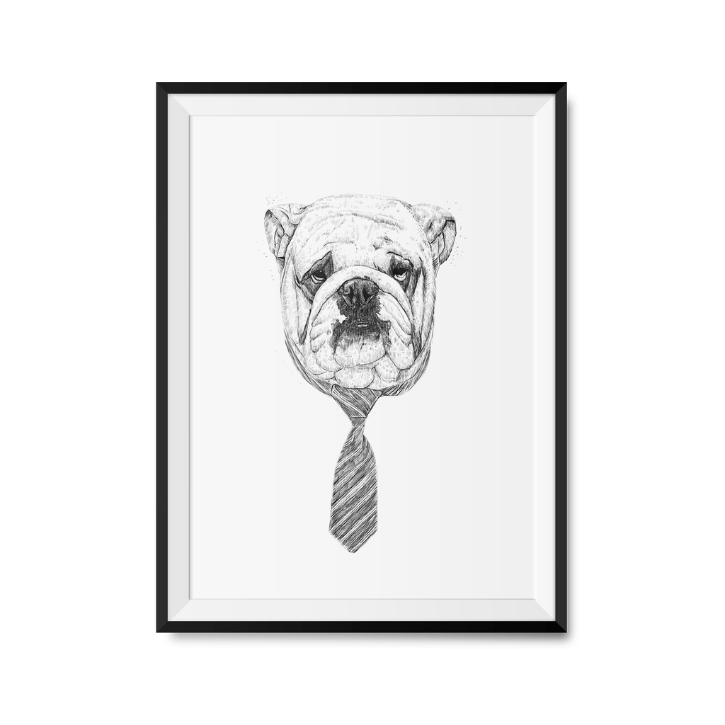 Cool Dog Art Print-Curartee