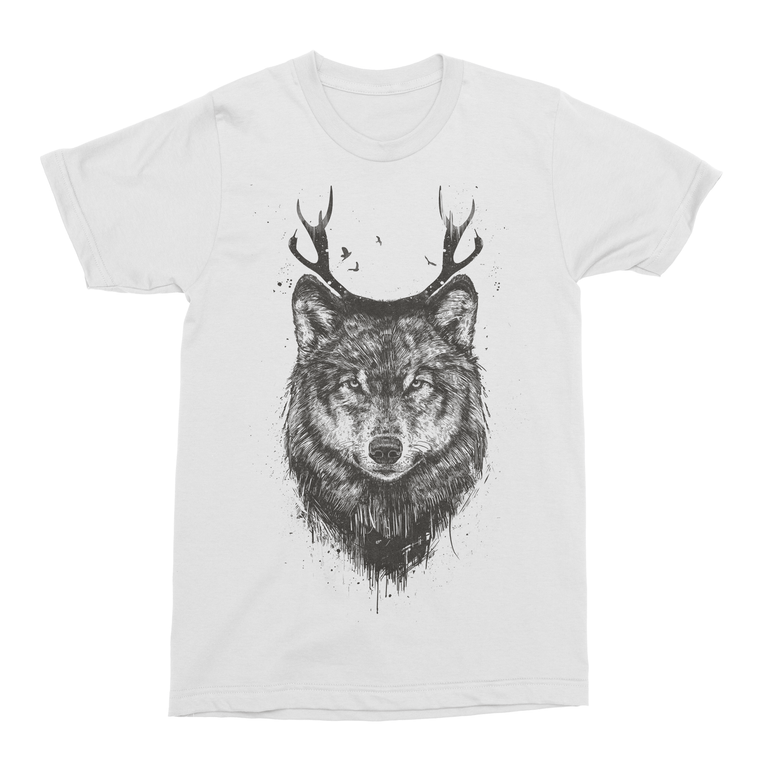 Deer Wolf Men's T-Shirt-Curartee