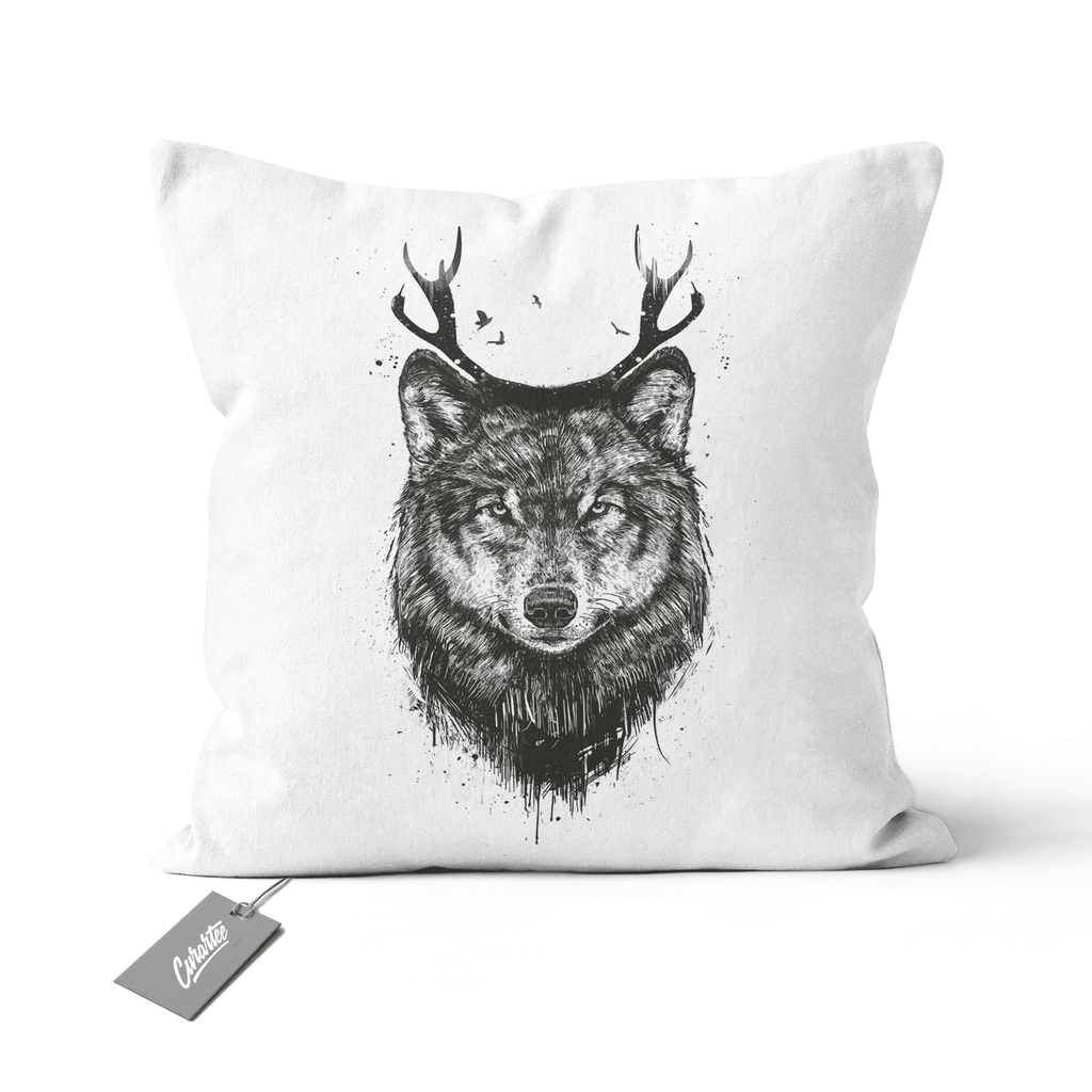 Dear Wolf Cushion - Premium Artwear Curartee
