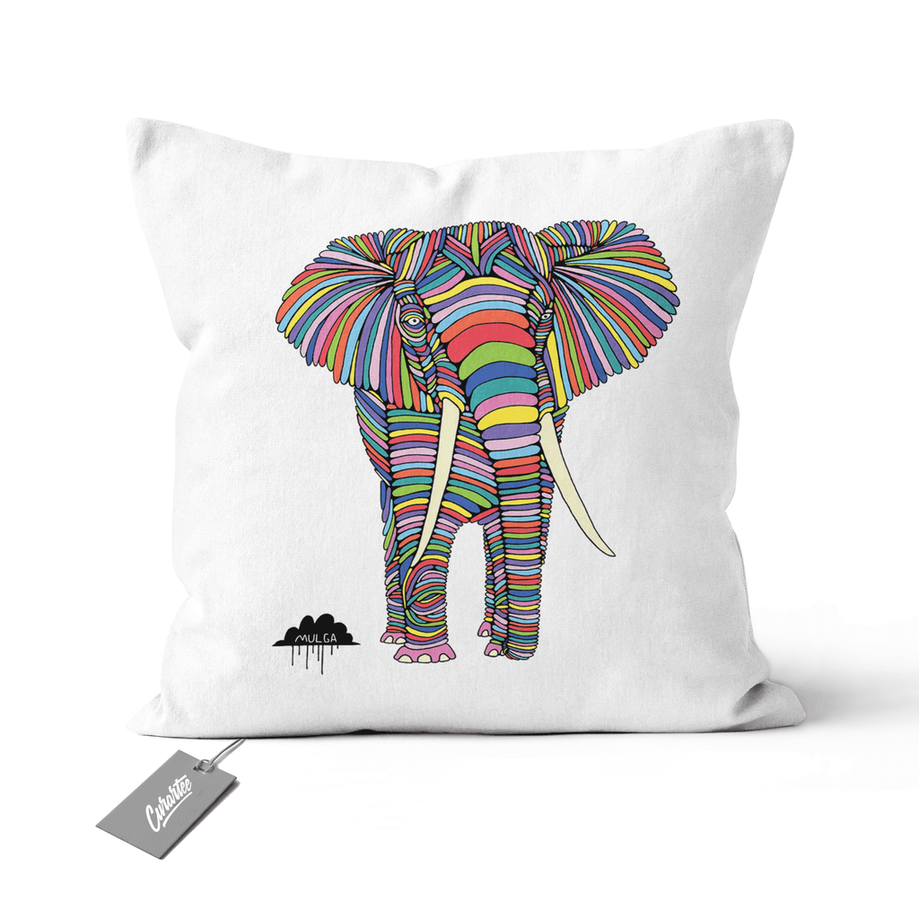 Eden the Elephant Cushion - Premium Artwear Curartee