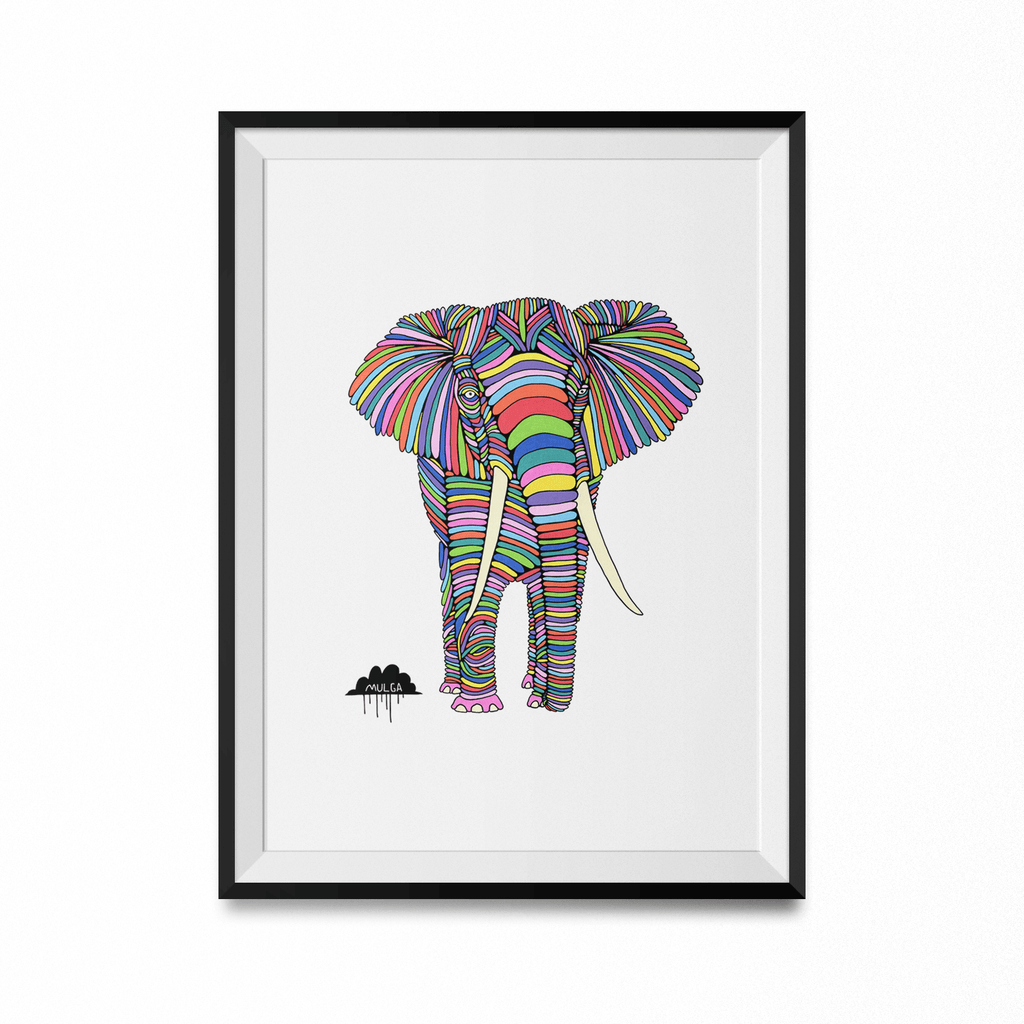 Eden The Elephant Art Print-Curartee