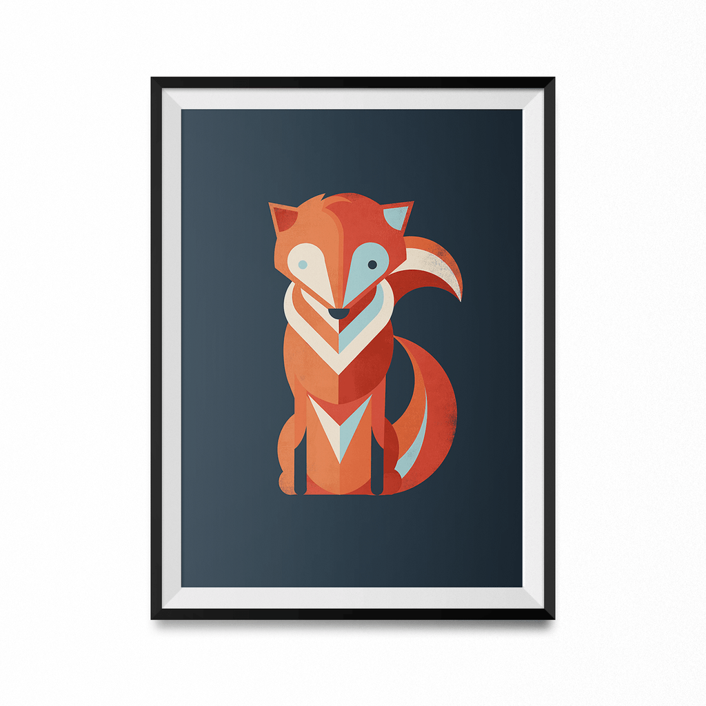 Fox Art Print-Curartee