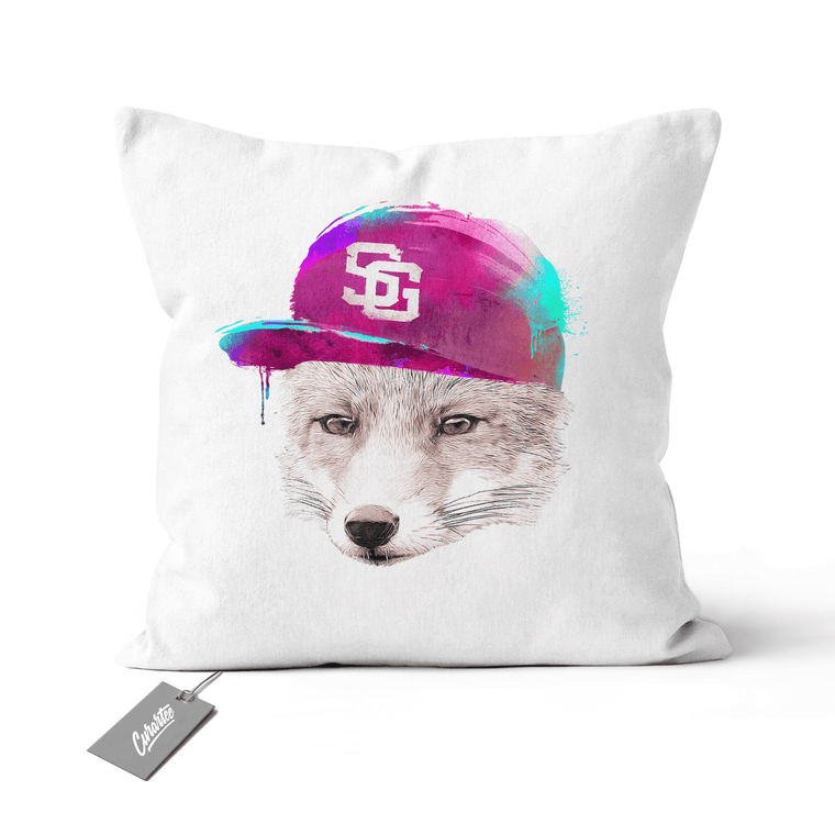 Foxes Favourite Cap Cushion - Premium Artwear Curartee
