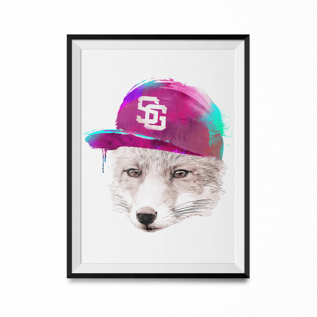 Foxes Favourite Cap Art Print-Curartee
