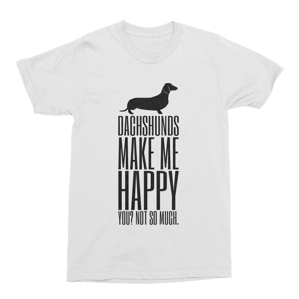 Dachshunds Make Me Happy Men's T-Shirt-Curartee