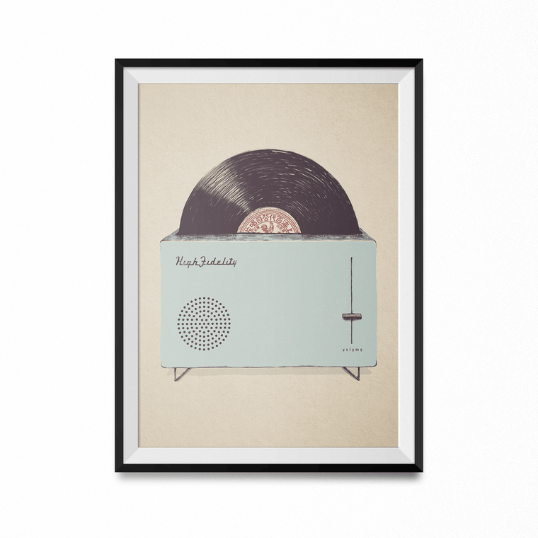 High Fidelity Art Print-Curartee