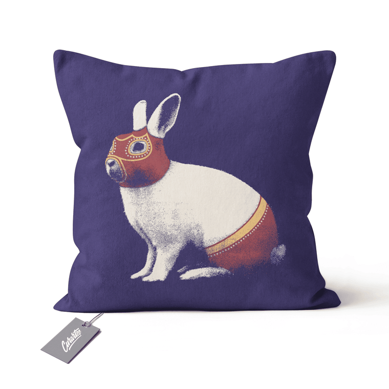 Lapin Catcheur Cushion - Premium Artwear Curartee