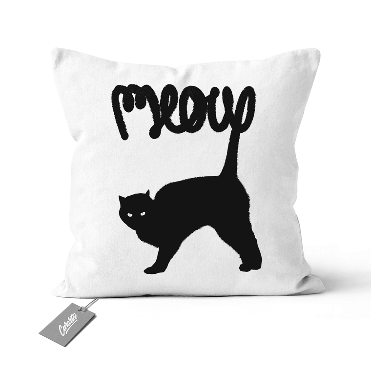 Meow Cushion - Premium Artwear Curartee