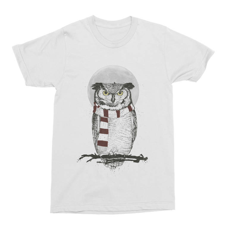 Winter Owl Men's T-Shirt-Curartee
