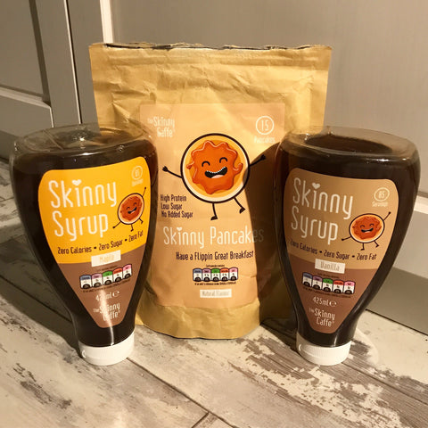The Skinny Caffe Skinny Pancake and Skinny Syrups Zero Calories