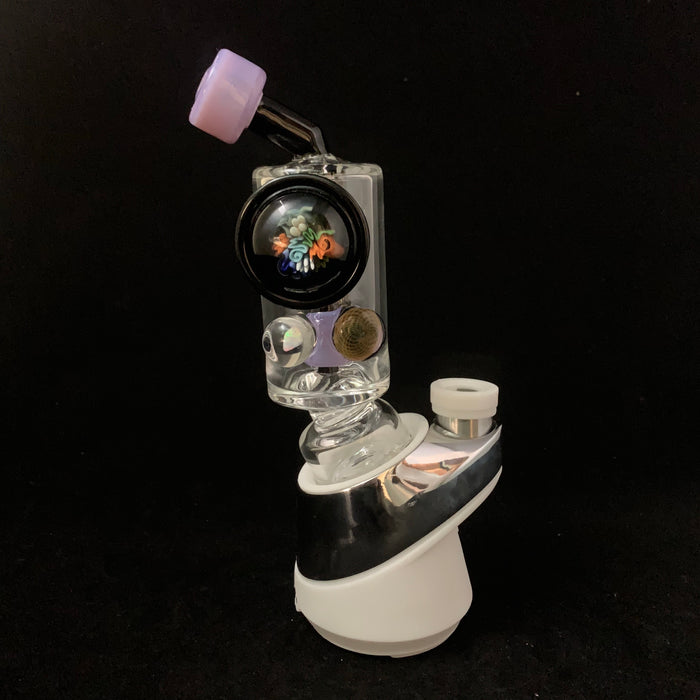 Pink Slyme with sea floral , fumicello and opal lenses Puffco Peak attachment