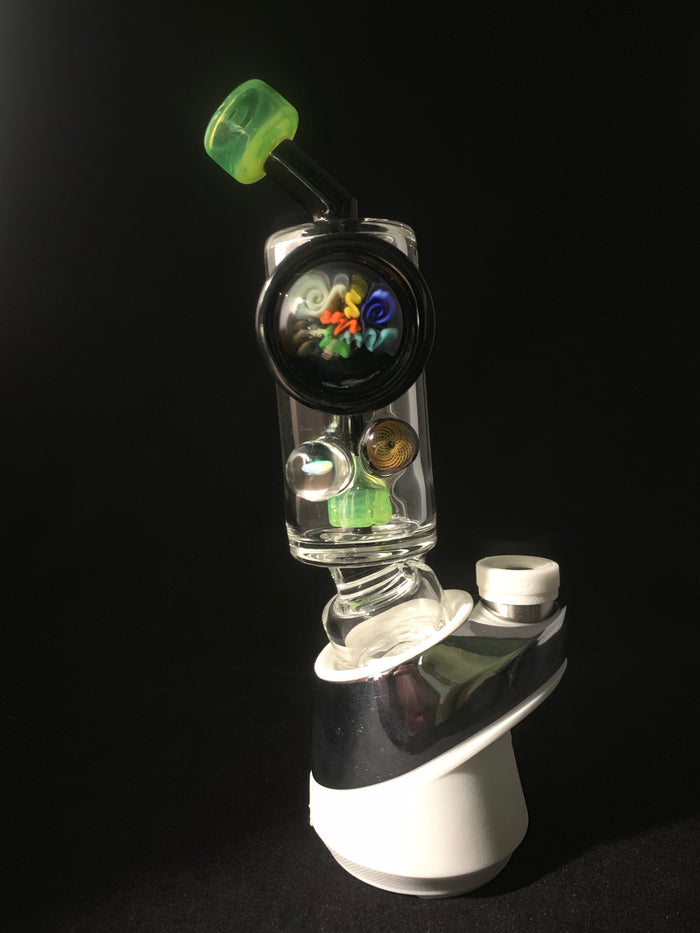 Slyme Puffco Peak attachment with marbles
