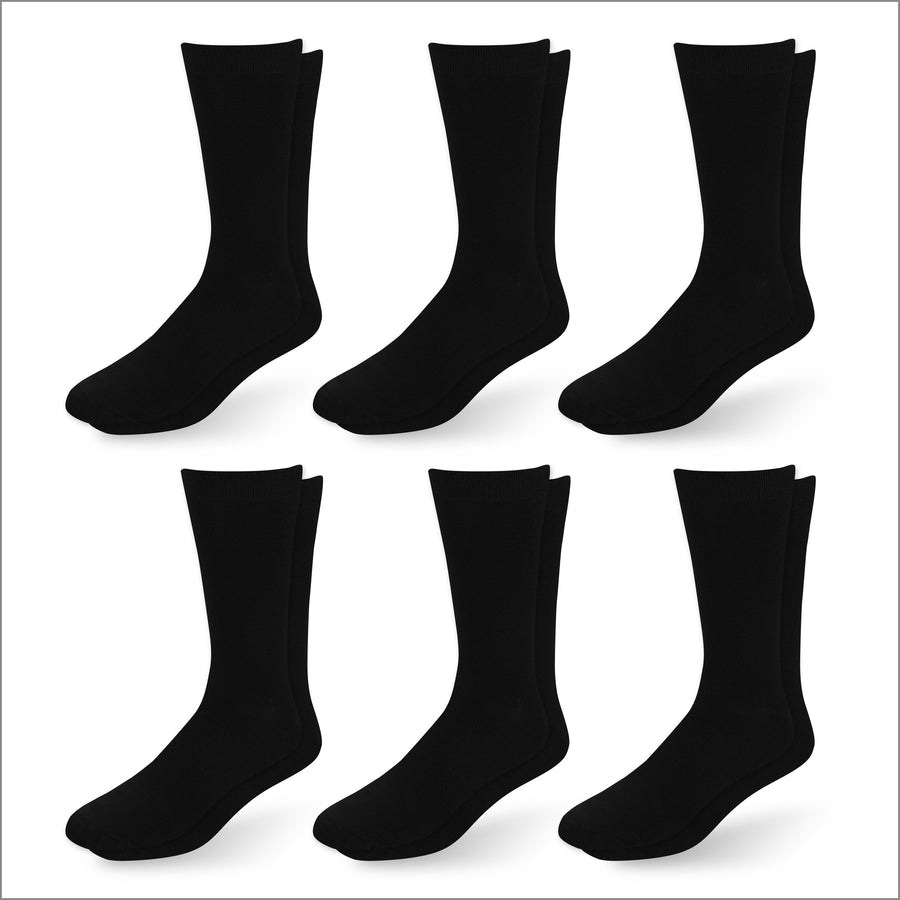 Black Non Sweat Socks - 6 Pack